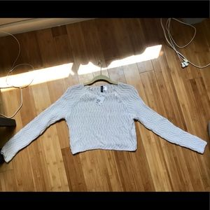 Brand new white cropped sweater from H&M